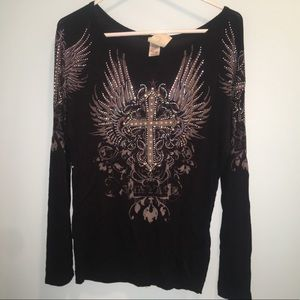 Black Long Sleeve Vocal Shirt